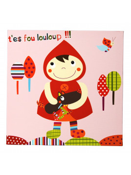 Tableau canvas Chaperon Rouge