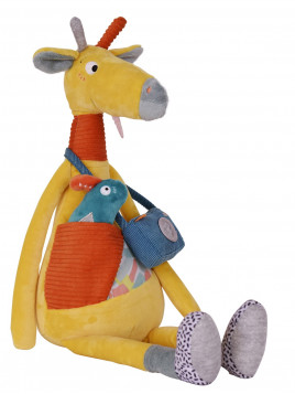 Billie la Girafe d'Activités - Peluche d'Eveil Mixte - Grelot - Papier Bruissant - Pouet - Cui Cui Electronique