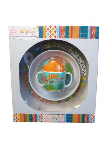 coffret Jungle Boogie : assiette bol mug cuillère