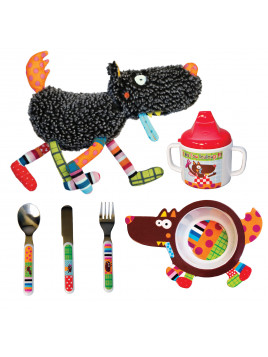 PACK Doudou Louloup + bol + couverts + Mug Louloup