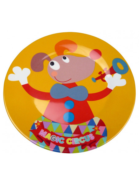 assiette plate design Magic Circus